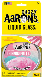 Crazy Aaron's Thinking Putty - Liquid Glass - Rose Lagoon