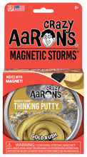 Load image into Gallery viewer, Crazy Aaron's Thinking Putty - Magnetic Storms - Gold Rush