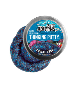 Crazy Aaron's Thinking Putty - Mini Tins-Colorshock - Coral Reef