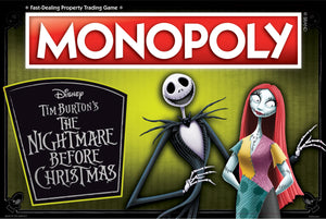 Nightmare Before Christmas 25 Years Monopoly