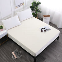 Solid Beige Waterproof Mattress Protector