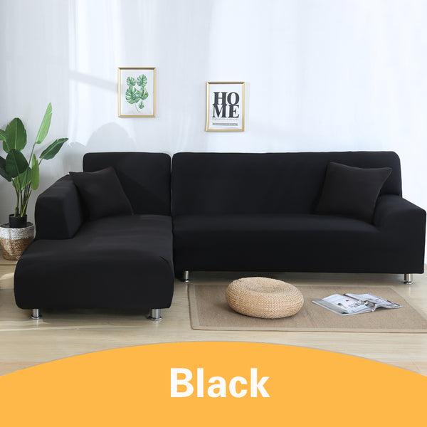 Solid Black Sofa Cover