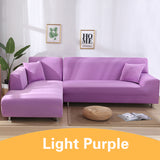 Solid Light Purple Sofa Cover
