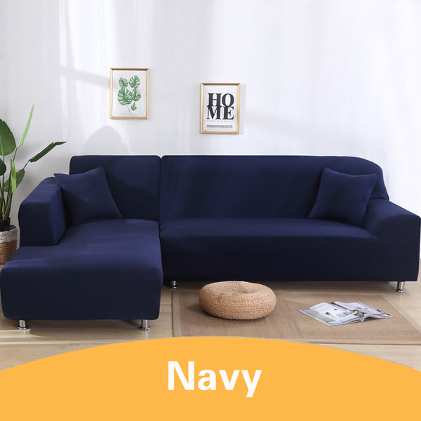 Solid Navy Sofa Cover