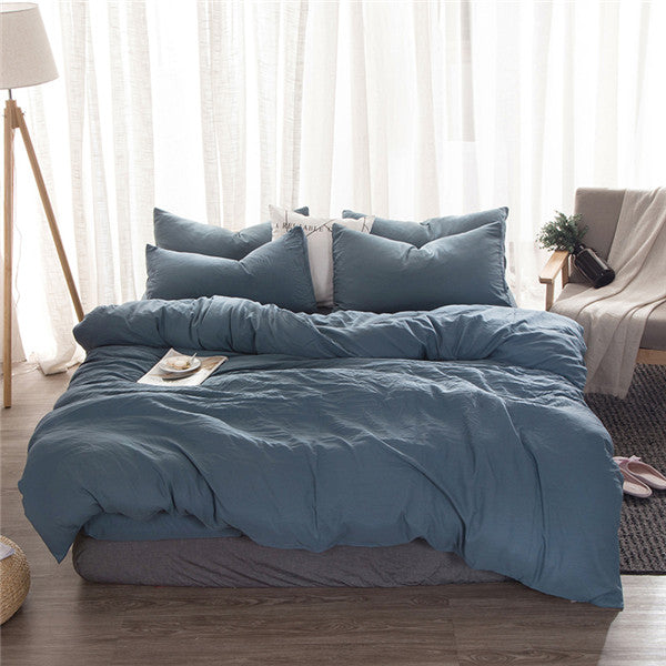 Solid Blue Duvet Set