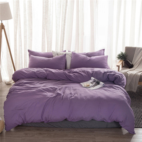 Solid Purple Duvet Set