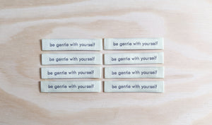 """be gentle with yourself' Premium Woven Labels"
