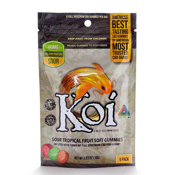 Koi Sour Tropical Fruit CBD Gummies