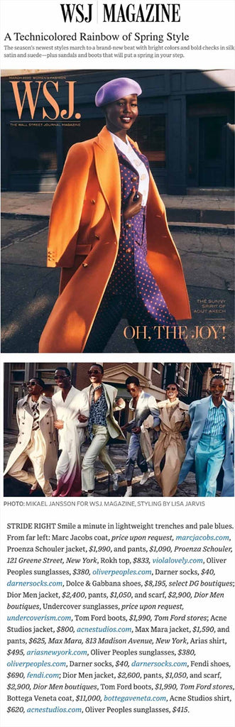 ARIAS Tie-Neck Blouse featured in WSJ Magazine