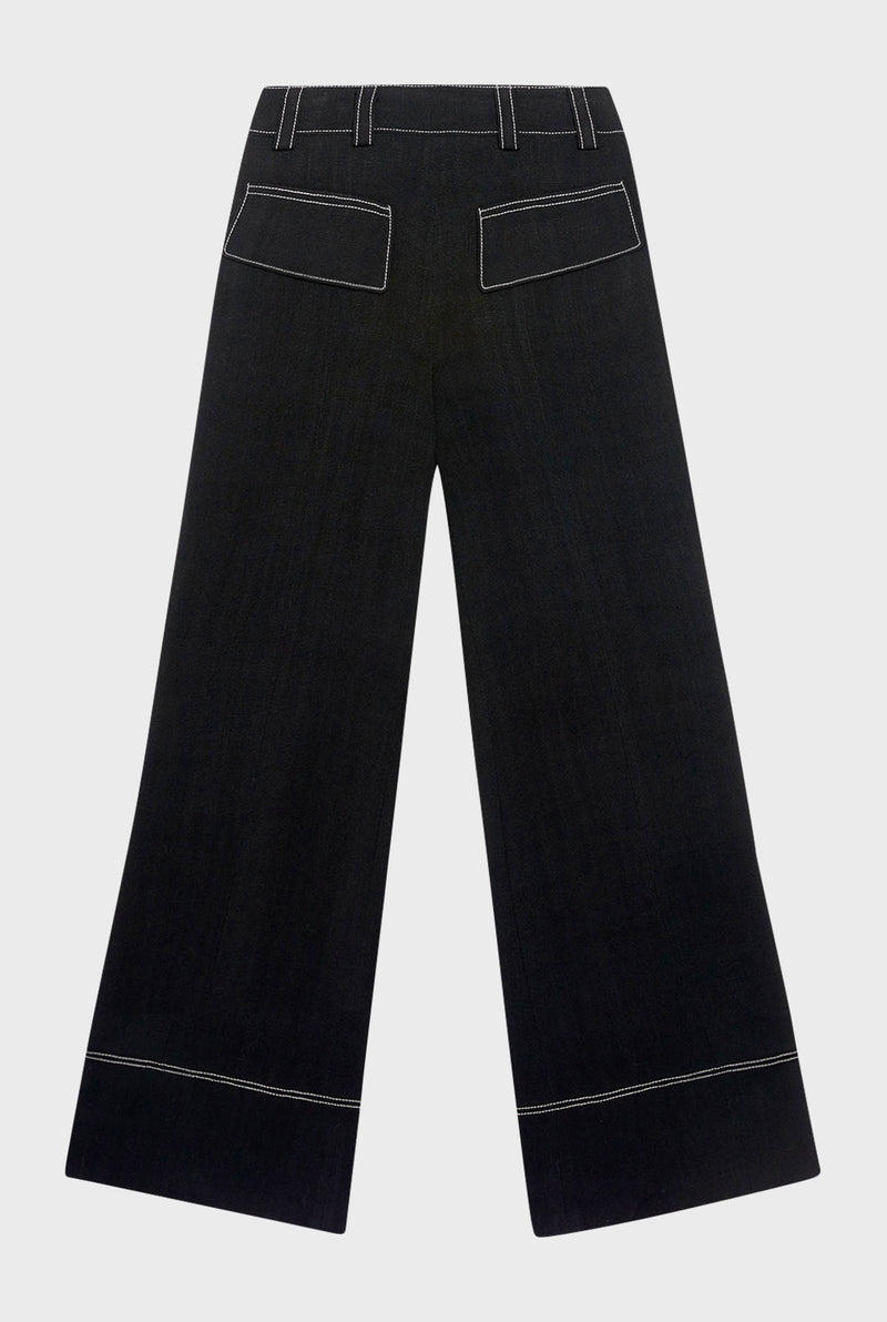 Flare Pant with Back Slit is made in New York