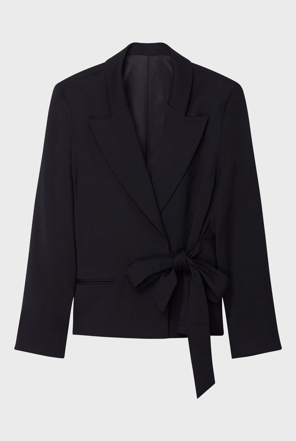 Tuxedo Jacket With Side-Tie