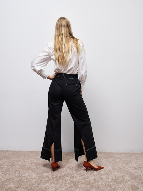 Flare Pant with Back Slit