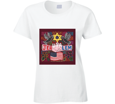 The JerUSAlem Mola Design Ladies T Shirt