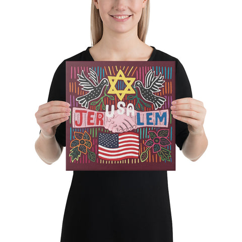 Canvas Print with JerUSAlem design
