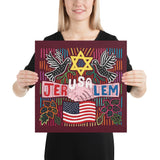 JerUSAlem design Poster in multiple sizes