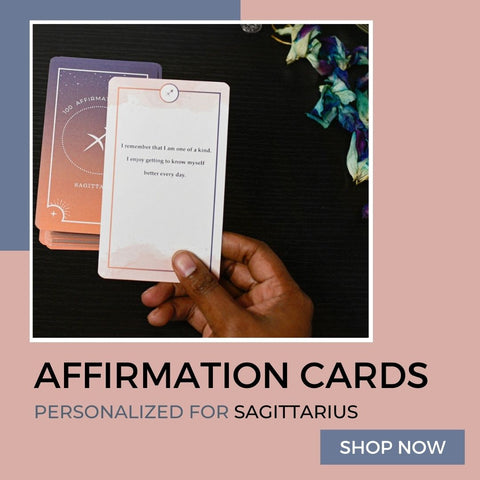 Affirmation cards personalized for Sagittarius Zodiac Signs