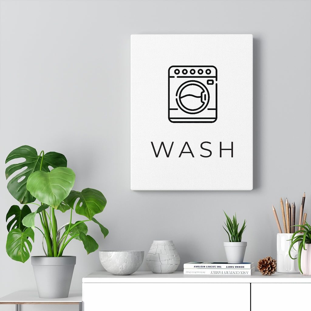 Laundry Room Artwork | Modern Laundry Wash Canvas Wrap Art Print