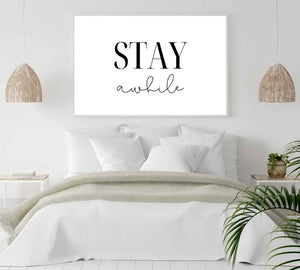 Large wall decor signage for bed rooms.