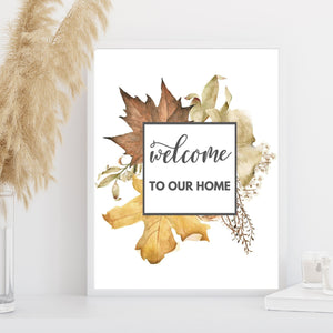 Free Printable Welcome Autumn Sign