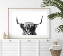 Load image into Gallery viewer, Make a statement in your decor with our simple scandi cow art print.