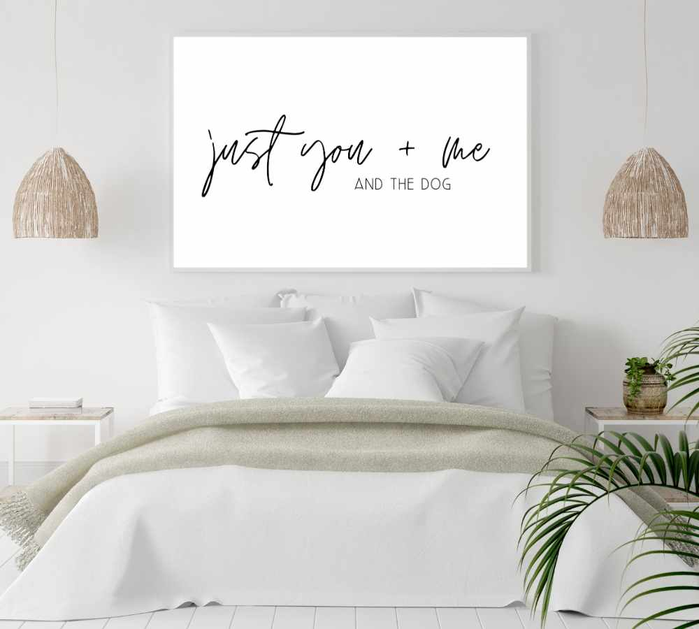 Wall art design for your bedroom.