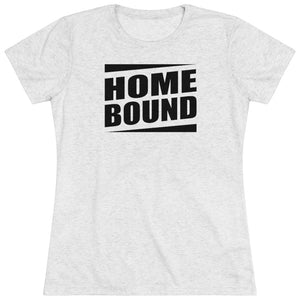 Heather white home bound tee for women.