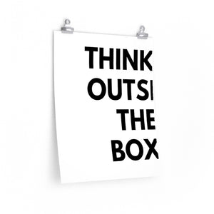Think Outside The Box Simple Art Print