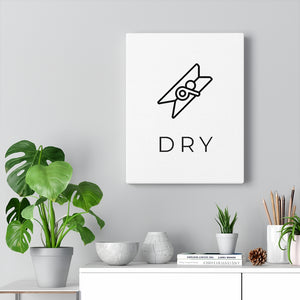 Laundry Room Artwork | Modern Laundry Dry Canvas Wrap