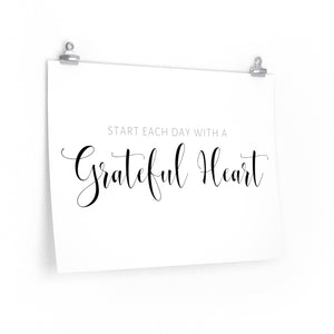 Grateful Heart wall decor art print.