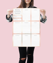 Load image into Gallery viewer, Pretty Weekly Wall Planner