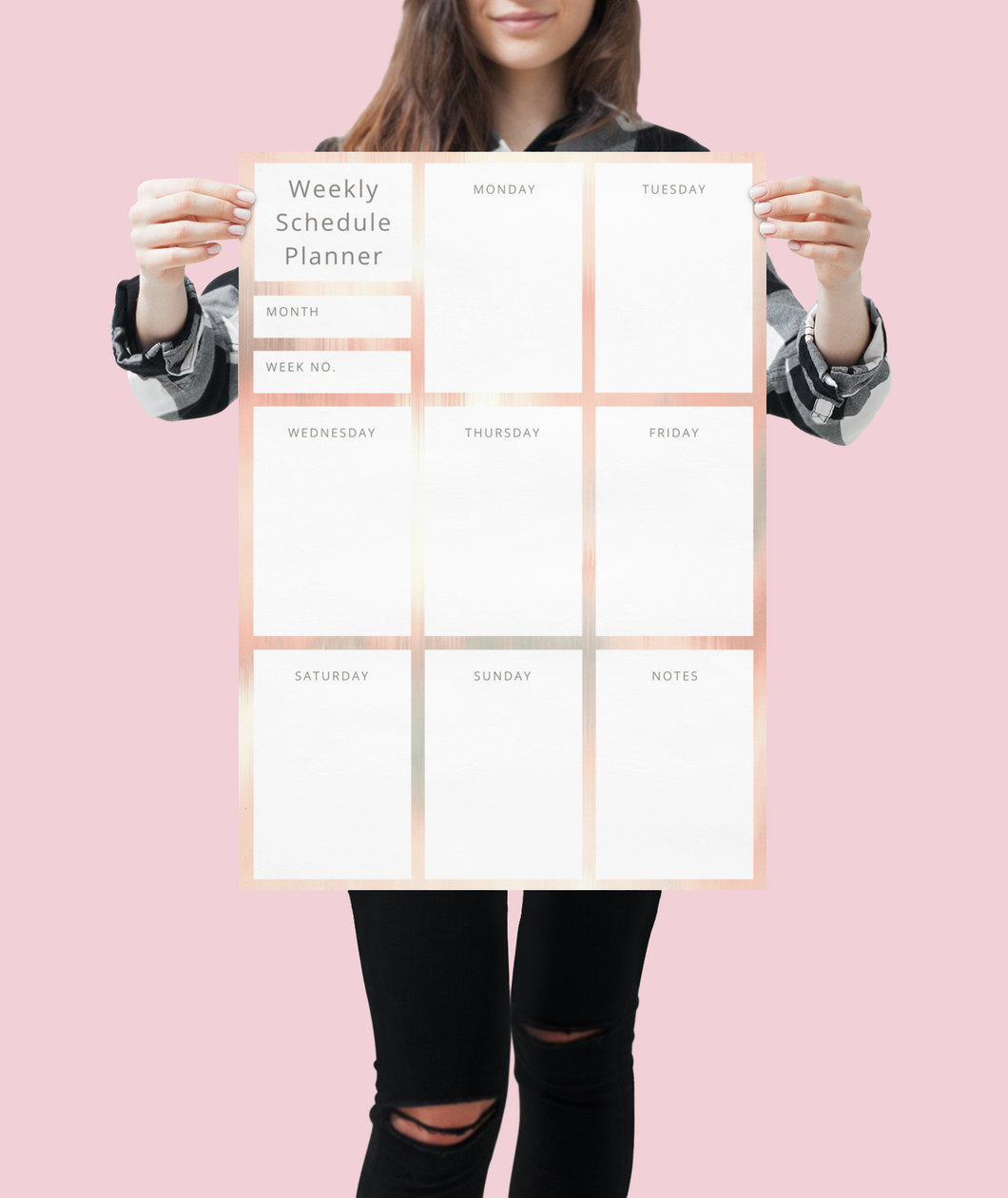 Pretty Weekly Wall Planner