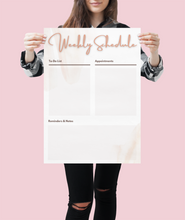 Load image into Gallery viewer, Feminine Weekly Planner Print
