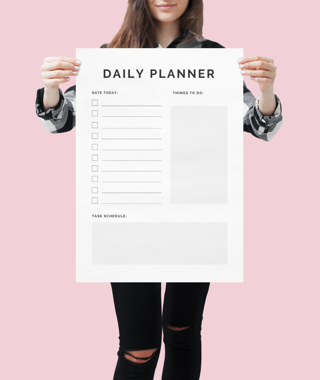 Daily Planner for your home office.