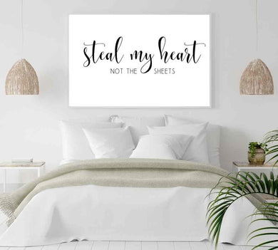 Large over the bed quotes to hang in bedroom.
