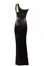 Load image into Gallery viewer, BLACK STONE SEXY LONG DRESS