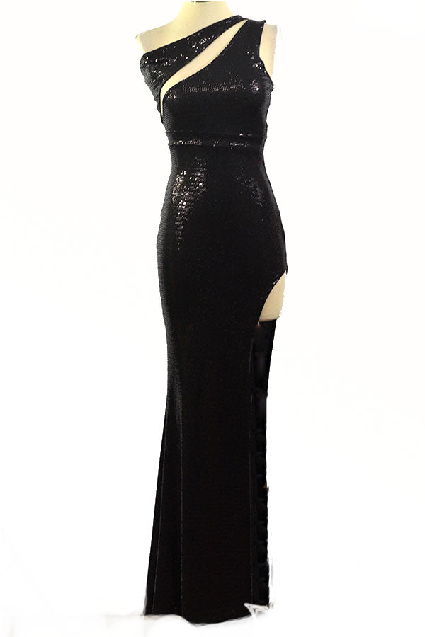 BLACK STONE SEXY LONG DRESS