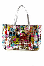 Load image into Gallery viewer, MULTI MAGAZINE PRINT SHOPPER BAG