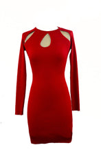 Load image into Gallery viewer, RED BODYCON DRESS