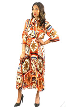 Load image into Gallery viewer, MULTI COLOR PRINTED BLOUSES AND PLEATED SKIRTS SET