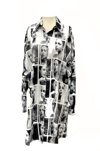 MAGAZINE PRINTED TOP DRESS