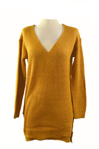 V LINE KNIT TOP DRESS