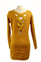 Load image into Gallery viewer, V LINE KNIT TOP DRESS