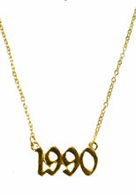 Load image into Gallery viewer, Birth Year Necklace