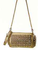 Load image into Gallery viewer, Rhinestone Saddle Baguette with Shoulder Chain Bag