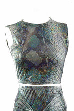 Load image into Gallery viewer, SNAKE SKIN PRINTED WITH GLITTERS 2PCS SET