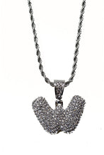 Load image into Gallery viewer, BUBBLE CRYSTAL INITIAL PENDANT NECKLACE