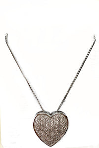 CUBIC HEART PENDANT NECKLACE