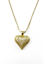 Load image into Gallery viewer, CUBIC HEART PENDANT NECKLACE
