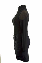 Load image into Gallery viewer, MESH LONG SLEEVE  BODYCON DRESS