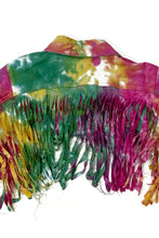 Load image into Gallery viewer, FRINGE TIE DYE PRINT JACKET